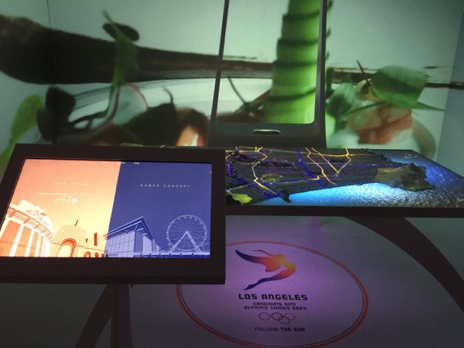 Los Angeles 2024 Olympic Bid Display at USA House in Rio (GamesBids Photo)