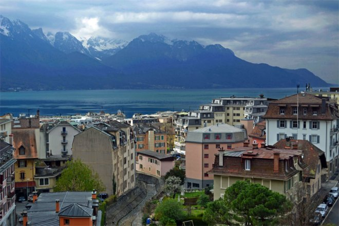 Montreux, on Lake Geneva, Vies to host 2026 Olympic Winter Games (Wikipedia Photo)