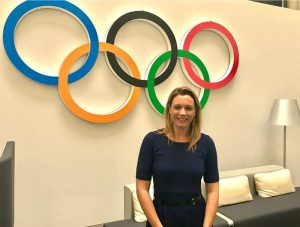 Olympic swim Champion Agnes Kovacs, Chair of Budapest 2024 Athletes' Commission, attends bid city workshop in Lausanne (Agnes Kovacs Twitter)