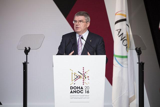 IOC President Thomas Bach at ANOC Assembly (IOC Photo)