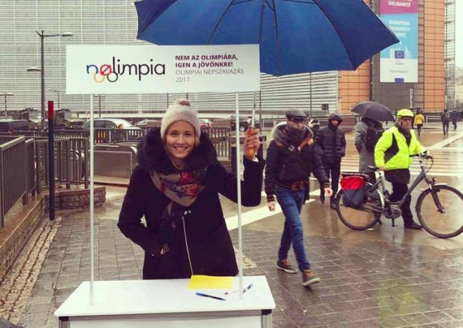 NOlimpia has reportedly collected 110,000 signatures, just short of 138,000 target to force a Budaoest 2024 referendum. One week remains (NOlimpia Facebook Photo)