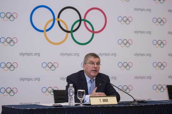 IOC President Thomas Bach at Executive Board Meeting in PyeongChang March 17, 2017 (IOC Photo)
