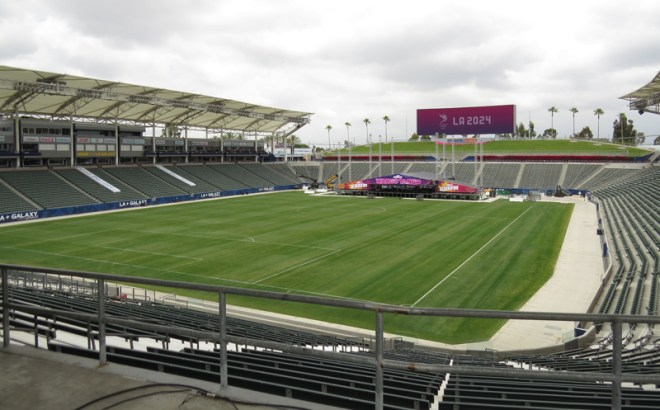 The Stub Hub Centre in LA 2024's South Bay Sports Park (GamesBids Photo)