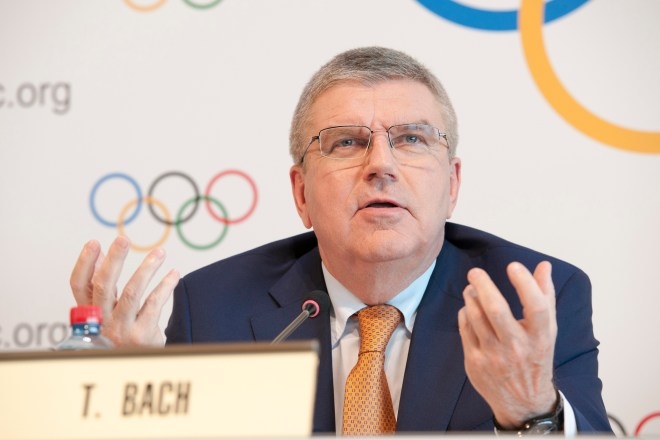 IOC President Thomas Bach in Lausanne June 9, 2017 (IOC Photo)