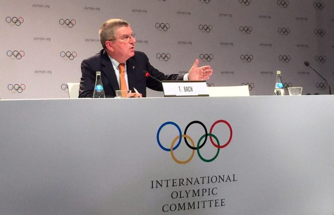 IOC President Thomas Bach at closing press conference of Lima IOC Session (GamesBids Photo)