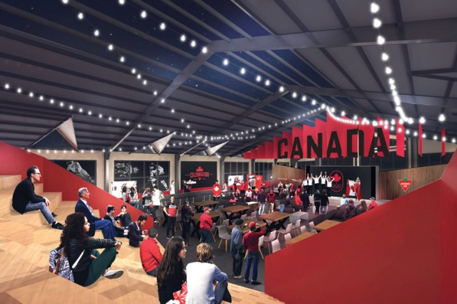 Canada Olympic House at PyeongChang 2018 Olympic Winter Games (COC rendering)