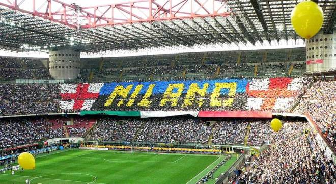 San Siro Stadium, home of A.C. Milan and Inter Milan, has an 80,000 seat capacity and is Italy's biggest stadium (Wikipedia Photo)
