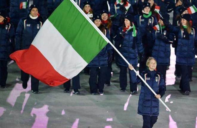 Arianna Fontana was flag bearer for Italy at the PyeongChang 2018 Winter Olympics. The short track speed skater has won eight Olympic medals, including one gold (Fontana/Twitter)