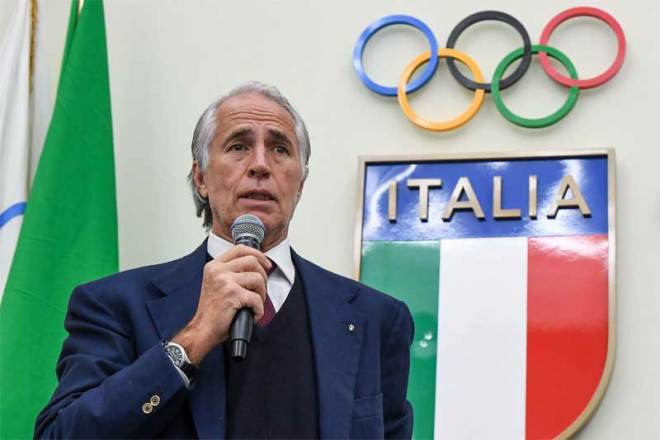 Italian Olympic Committee (CONI) President Giovanni Malagò at National Council meeting in Rome, March 27, 2019 (CONI Photo)