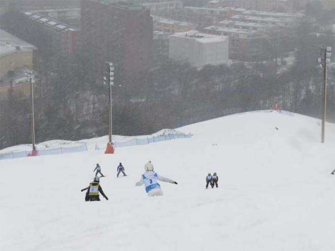 Children Ski at Hammarbybacken in Stockholm, proposed venue for Stockholm-Åre 2026 Olympic bid (GamesBids Photo)