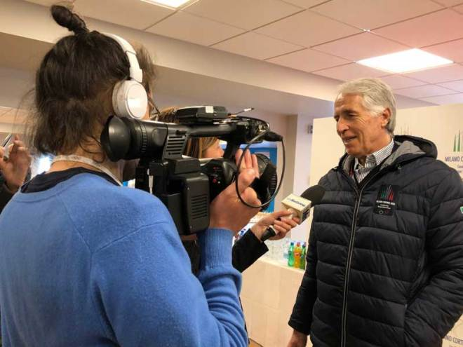 CONI President Giovanni Malagò interviewed in Livigno (GamesBids Photo)