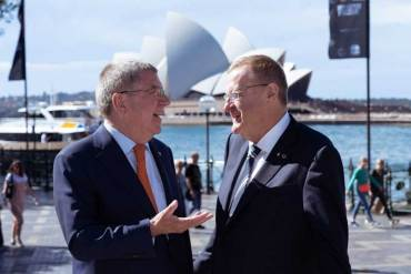 IOC President Bach Impressed By Australian PM's Commitment To Olympic Bid
