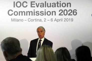 "CONI President ""Very Happy"" With IOC Report On Milan-Cortina 2026 Olympic Bid"