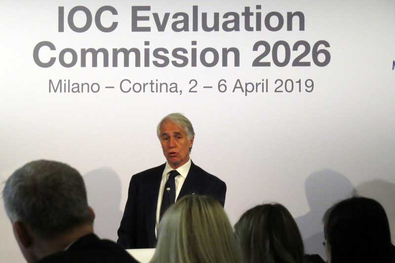 "CONI President ""Very Happy"" With IOC Report On Milan-Cortina 2026 Olympic Bid"