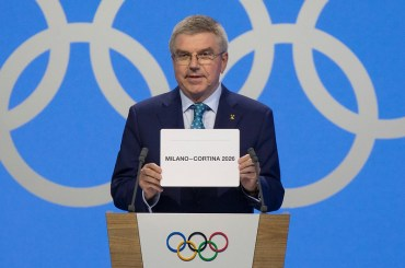 IOC President Thomas Bach declares Milan Cortina Winner of 2026 Olympic Winter Games bid, June 24, 2019 (IOC Photo)