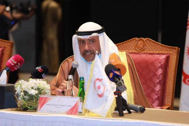 Sheikh Ahmad Al-Fahad Al-Sabah at the 39th OCA General Assembly in Muscat, Oman December 15, 2020 (OCA Photo)