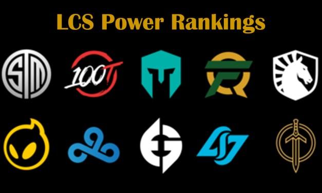 LCS Power Rankings Playoffs Round 1