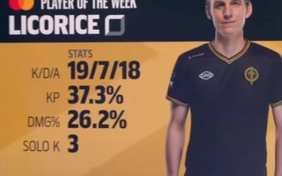 Licorice LCS Player Of The Week: Week 6