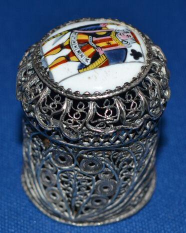 Silver Filagree Counter Box