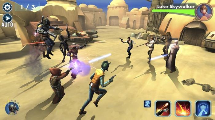 Star Wars Galaxy of Heroes win free