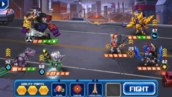 Transformers Battle Tactics fight