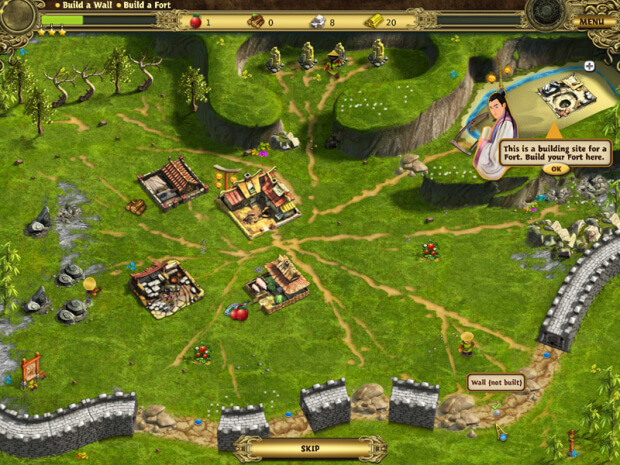 Building the Great Wall of China game screen shot 3