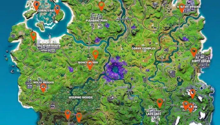 Fortnite season 7: where to place video cameras in the video game?
