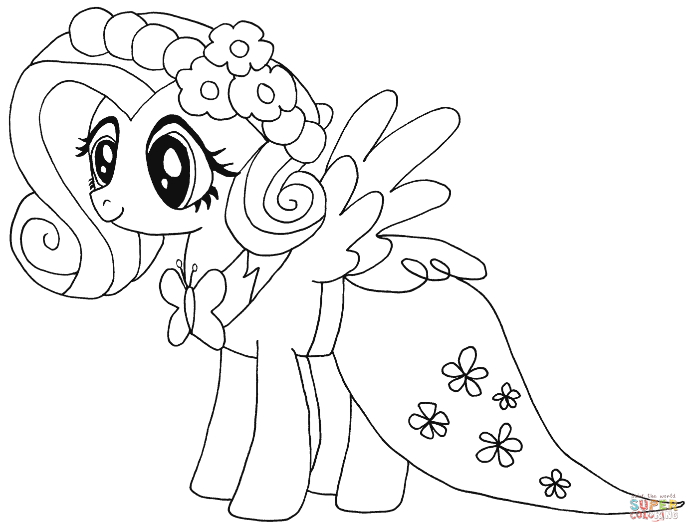 My Little Pony Fluttershy From My Little Pony Coloring Page My
