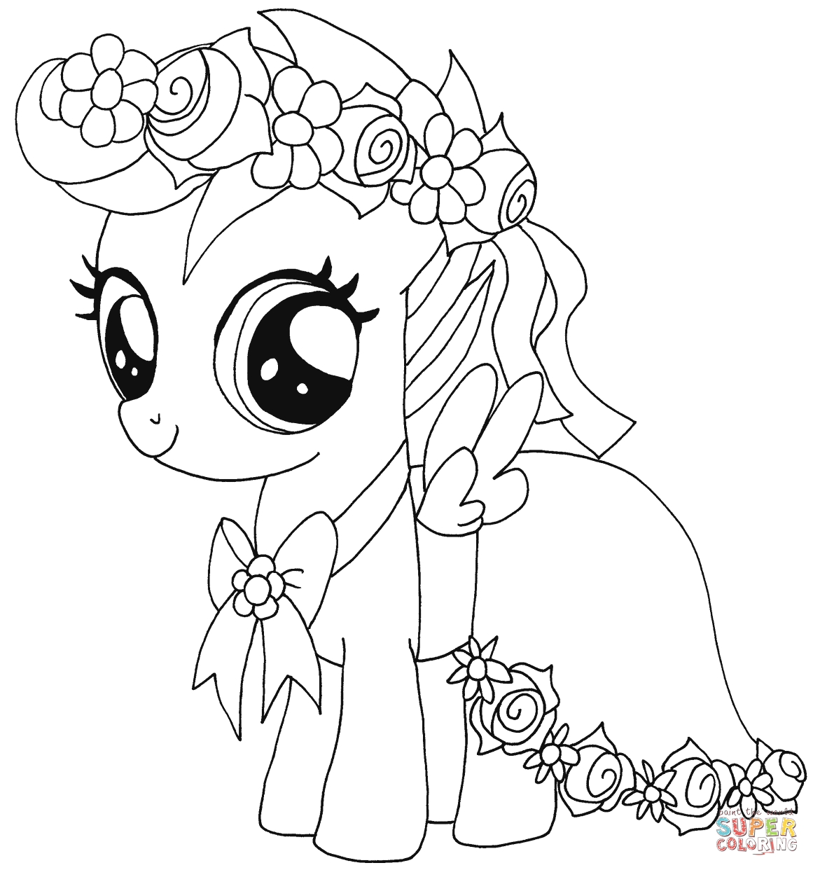 My Little Pony Scootaloo From My Little Pony Coloring Page My