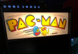 Pac-Man arcade marquee sign