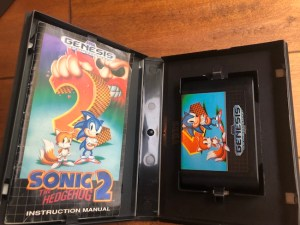 inside of sonic 2 game case