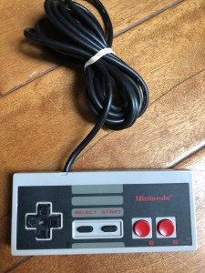 nes controller from retro wreck room box