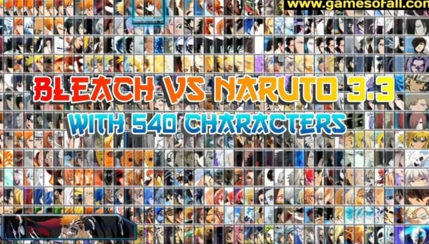 Bleach Vs Naruto Mugen Apk with 540 Characters Download