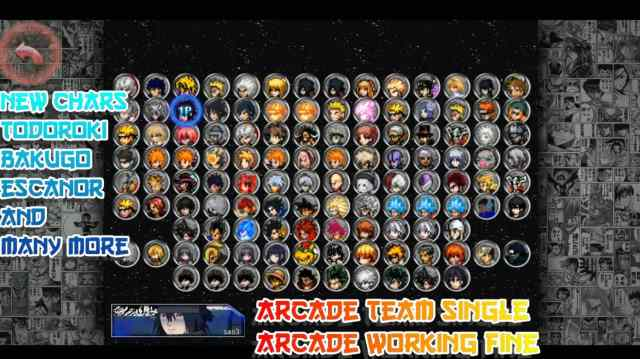 Anime Mugen 100+ Characters