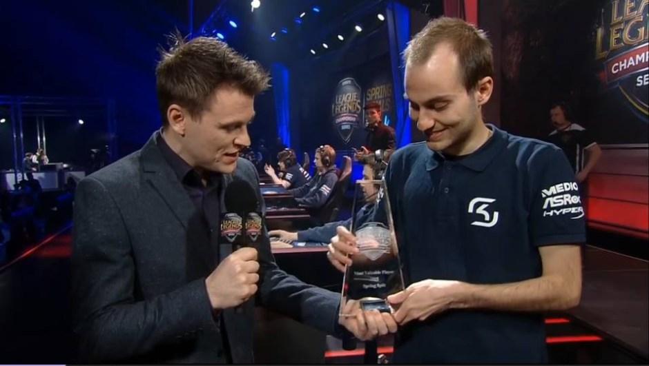 Όταν πήρε το βραβείο MVP Spring Split 2015