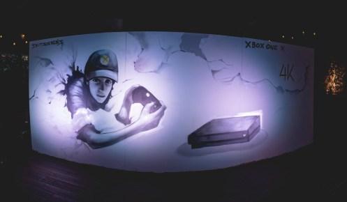Street Art, εμπνευσμένο από το Xbox One X, διά χειρός του Skitsofrenis.