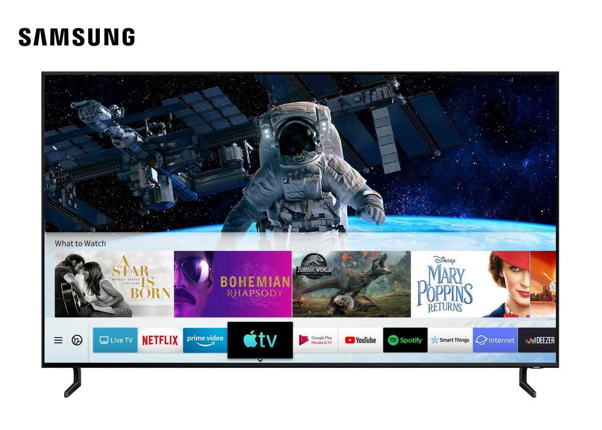 H Samsung είναι ο πρώτος κατασκευαστής τηλεοράσεων που προσφέρει Apple TV και AirPlay 2