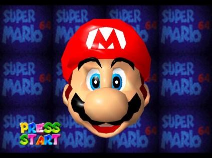 Oyuna başlamadan önce böyle bir ekran karşınıza geliyordu ve bu ekranda isterseniz Mario yu tokatlayabiliyor ya da kaşını gözünü burnunu yanağını ponçikleyip çekebiliyorsunuz.
