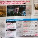 『メタルギアソリッドV ファントム・ペイン』スペインのゲーム誌にレビューが掲載!スコアは97/100「歴代最高の潜入アクションゲーム」と賞賛