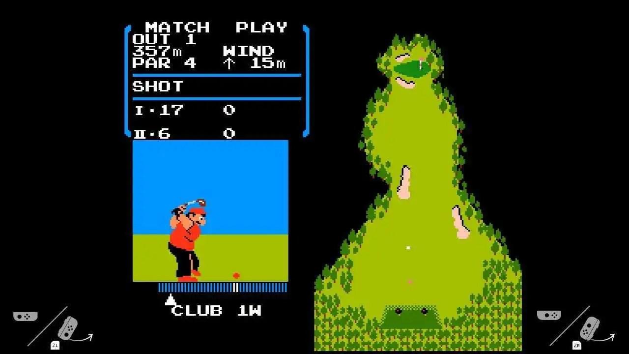 Nintendo Switch nasconde un vecchio gioco di golf del NES