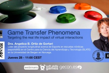 Game Transfer Phenomena Webinar hosted by GECON