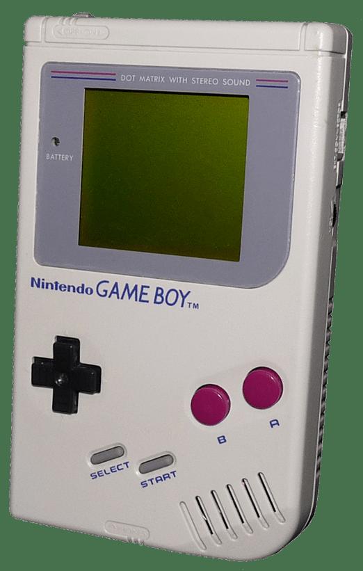 original nintendo gameboy white front angle gametrog
