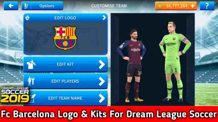 Fc Barcelona 2018-2019 Logo & Kits For DLS 19