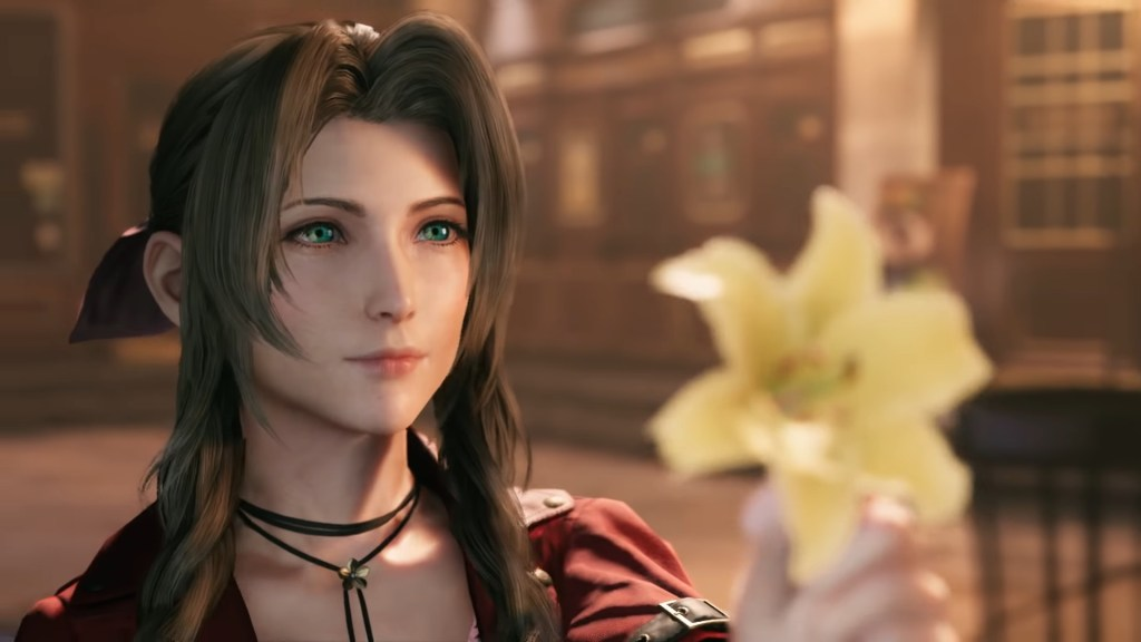 Aerith Gainsborough in Final Fantasy VII Remake 7 - Most Beautiful Final Fantasy Female Characters - Hot Lovely Fantasy Girls Anime