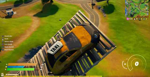 Get 2 seconds of airtime in a vehicle