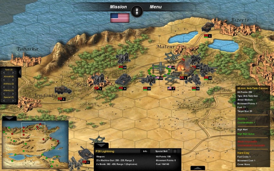 Tank Operations  European Campaign PC Review   GameWatcher Tunisia  Keeping on top of individual battles across large maps is tricky   but rewarding