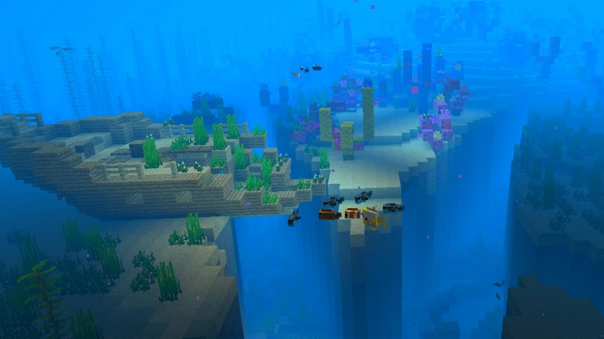 Minecraft Tout Ce Quil Faut Savoir Sur LAquatic Update En Version 113 De Java Et 14 Pour