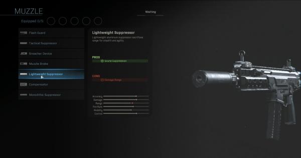 CoD: MW 2019 | Lightweight Suppressor - Muzzle Stats | Call of ...