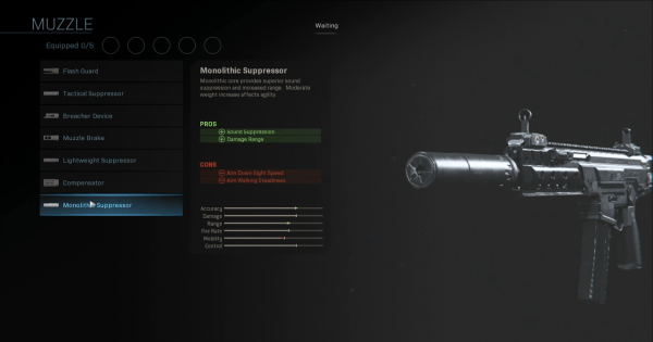 CoD: MW 2019 | Monolithic Suppressor - Muzzle Stats | Call of Duty ...