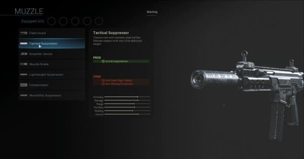 CoD: MW 2019   Tactical Suppressor - Muzzle Stats   Call of Duty ...